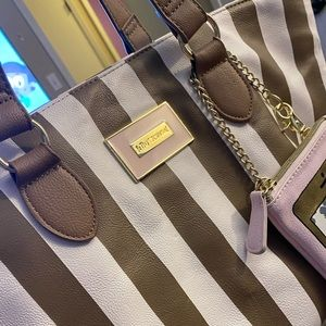 Betsey Johnson striped tote